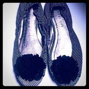 Madden Girl peep toe flats - worn once!